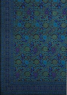 Handmade 100% Cotton Sunflower Tapestry Bedspread Coverlet Bed Sheet Beach Sheet Dorm Decor Large Tablecloth Navy Blue King Size 110x110