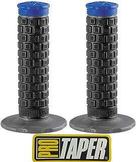 Pro Taper Pillow Top Lite MX Handlebar Grips (Black/Blue) With Pro Taper Sticker