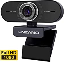 Webcam with Microphone, 1080P HD Streaming USB Web Camera Plug&Play/Auto Low Light Correction/Widescreen Video Calling and Recording for Online Class Zoom Meeting YouTube Skype Xbox PC Mac Laptop Desk