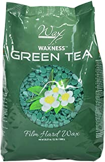Waxness Wax Necessities Film Hard Wax Beads Green Tea 2.2 Pound