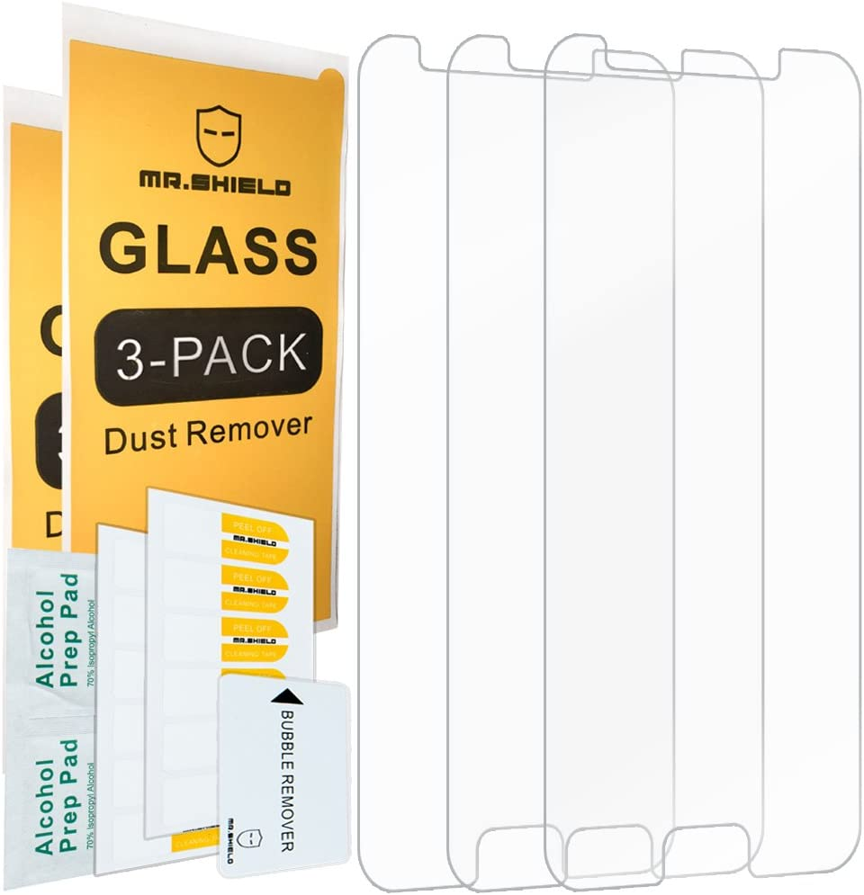 [3-Pack]-Mr.Shield Designed For Samsung (Galaxy J7 2018) [Tempered Glass] Screen Protector [Japan Glass with 9H Hardness] with Lifetime Replacement