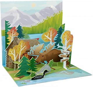 3D Pop Up Greeting Card Mountain Wilderness Any Occasion Treasures