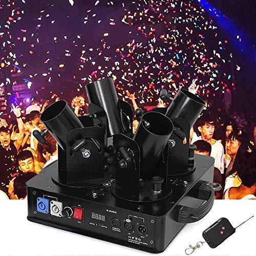 AILZNN DMX Leistungsstarke Konfetti Maschine, Konfetti Kanone Startprogramm Benutzter Schuss Berufsconfetti-abschussrampe, Für Hochzeits Feiertags Halloween Weihnachten
