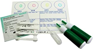 3 Pack Eldoncard Blood Type Test (Complete Kit) - air sealed envelope, safety lancet, micropipette, cleansing swab
