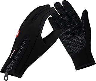 Unisex Winter Cycling Touch Screen Waterproof Windproof Gloves for Men & Women