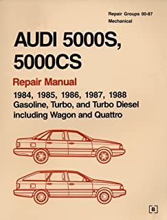 Audi 5000s, 5000cs: Official Factory Repair Manual, 1984, 1985, 1986, 1987, 1988 : Gasoline, Turbo, and Turbo Diesel, Incl...