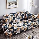 ASCV Flexibler elastischer rosafarbener geometrischer Schonbezug Sofa-Handtuch All-Inclusive-gewickelter Sofabezug für Sofa-Sessel in verschiedenen Formen A9 1-Sitzer