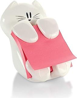 Post-it Pop-up Note Dispenser, Cat design, 3x3 in, 1 Dispenser/Pack (CAT-330) , White