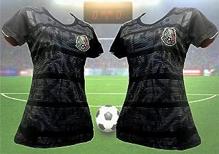 Woman Mexico Black Negra Copa Oro 2019 Jersey