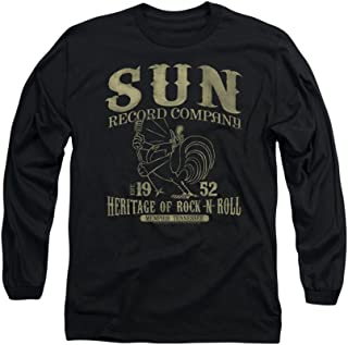 Sun Records Rockabilly Bird Adult Long-Sleeve T-Shirt