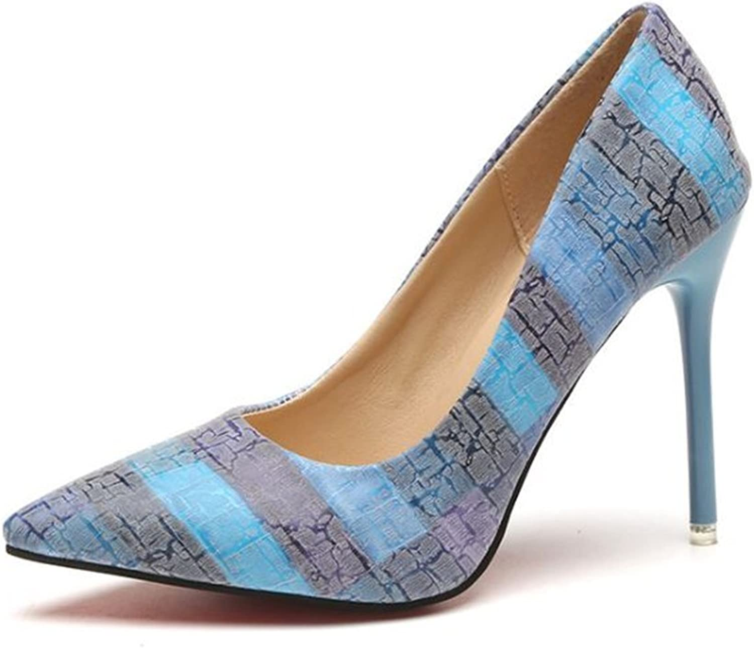 SunMMan Pointy Toe Pumps for Women,Patent Gradient High Heels Usual Dress shoes