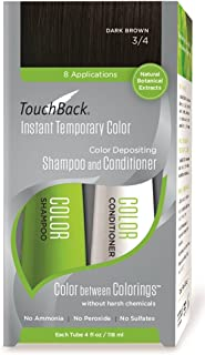 TouchBack Color Shampoo and Conditioner Set Dark Brown