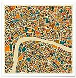 Juniqe® Stadtpläne London Poster 20x20cm - Design