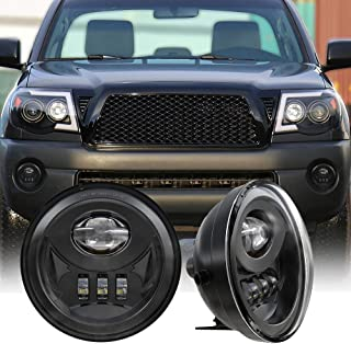 4X4FLSTC LED Fog Lights Fog Lamps Assembly DOT Approved Compatible with Tacoma 2005-2011/ Solara 2004-2006/ Sequoia 2008-2015/ Tundra 2007-2013 1 Pair Black