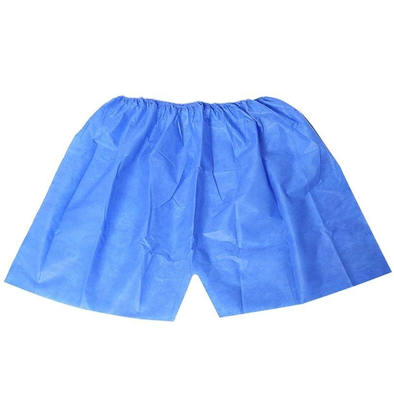 キーまたね強化使い捨てショーツボクサーブリーフ厚いパンツサウナパンツバスパンツ - ブルーシン