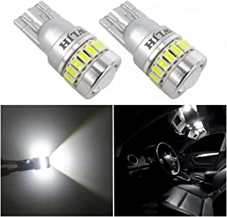 WLJH 2x Super Bright CANBUS 3014 and 3030 Chipset Error Free 168 2825 194 W5W T10 Led Bulb for Car Automotive Interior Dome Light Bulb Map Door Panel Glove Box Trunk Courtesy Step Lights 6000K White