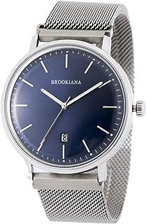 [ブルッキアーナ] ba0052 メンズ 腕時計 カレンダー クォーツ 防水 ブルー