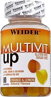 Joe Weider Victory Multivit Up 80 gummies. Sabor naranja y limón. Sin azúcares y sin gluten. Gominolas