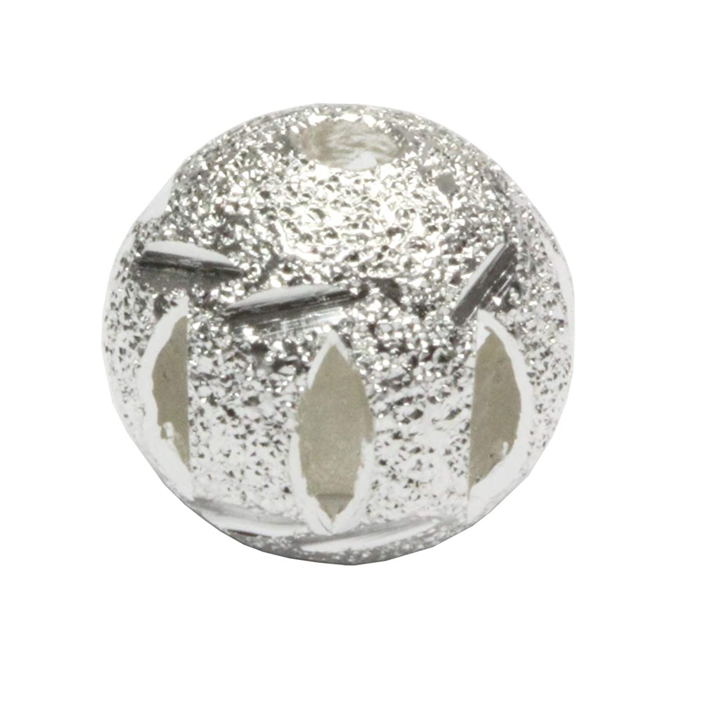 200pcs Top Quality 10mm Artistic Filigree Round Spacer Beads Sterling Silver Plated Brass Metal for Jewelry Craft Making CF18-10