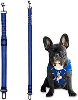 Dog Seat Belt, 2 Pack Safety Strap Car Headrest Restraint Adjustable Nylon Fabric Dog Restraints Vehicle Seatbelts Harness...