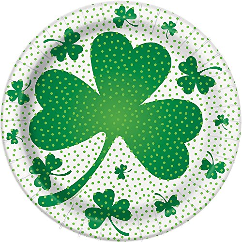 Photo of 23cm Lucky Shamrock St. Patrick's Day Party Plates, Pack of 8