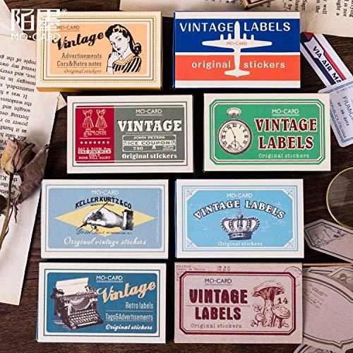 BLOUR Neue Vintage Stempeldekorative Aufkleber Scrapbooking Stick Label Tagebuch Briefpapier Album Retro Matchbox Aufkleber