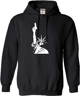 Adult Statue of Liberty Holding Gun 2nd Amendment Sweatshirt Hoodie
