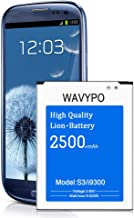 Galaxy S3 I9300 Battery, 2500mAh Wavypo Li-ion Replacement Battery for Samsung Galaxy S3 I9300, I9305 LTE, I535, T999, I747, L710, S3 Spare Battery [24 Month Warranty]