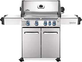 Napoleon P500RBPSS-3 Steel Prestige 500 Propane Gas Grill with Infrared Rear Burner, Stainless S