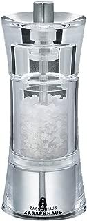 C/éramique Cross Moulin /à sel SaltBall Transparent//Noir 15 x 7,5 x 7,5 cm