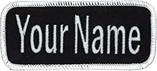 Name Patch Uniform or Work Shirt, Personalized, Embroidered, Multiple Styles. Same Day Ship.