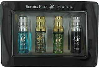 Beverly Hills Polo Club Men's Collection 4-Cologne Gift Set with Deluxe Tin Gift Box (Colognes may vary)