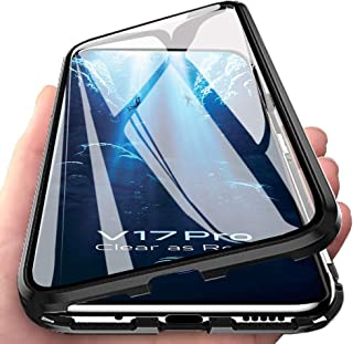 EabHulie VIVO V17 Pro Case, 360° Full Body Transparent Tempered Glass with Magnetic Adsorption Metal Bumper Case Cover for...
