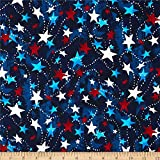 Santee Print Works Made in the USA Stars Red White Blue Quilt Fabric By The Yard