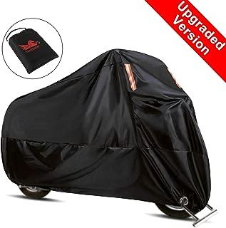 WinPower Funda Moto Anti-calorica Lluvia Universal Exterior Interior 210D Premium Impermeable Resistente al Calor Reforzada Anti-UV Oxford Tela XL 240cm Negra