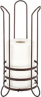 mDesign support pour papier toilette – distributeur papier toilette moderne pour la salle de bain ou les WC – porte papier...