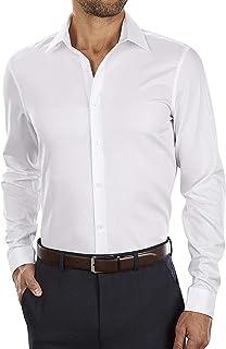 Men's Dress Shirt Slim Fit Non-Iron Herringbone