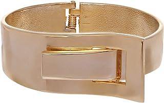 GrandUAE Women's Alloy Cuff Bracelet, Gold