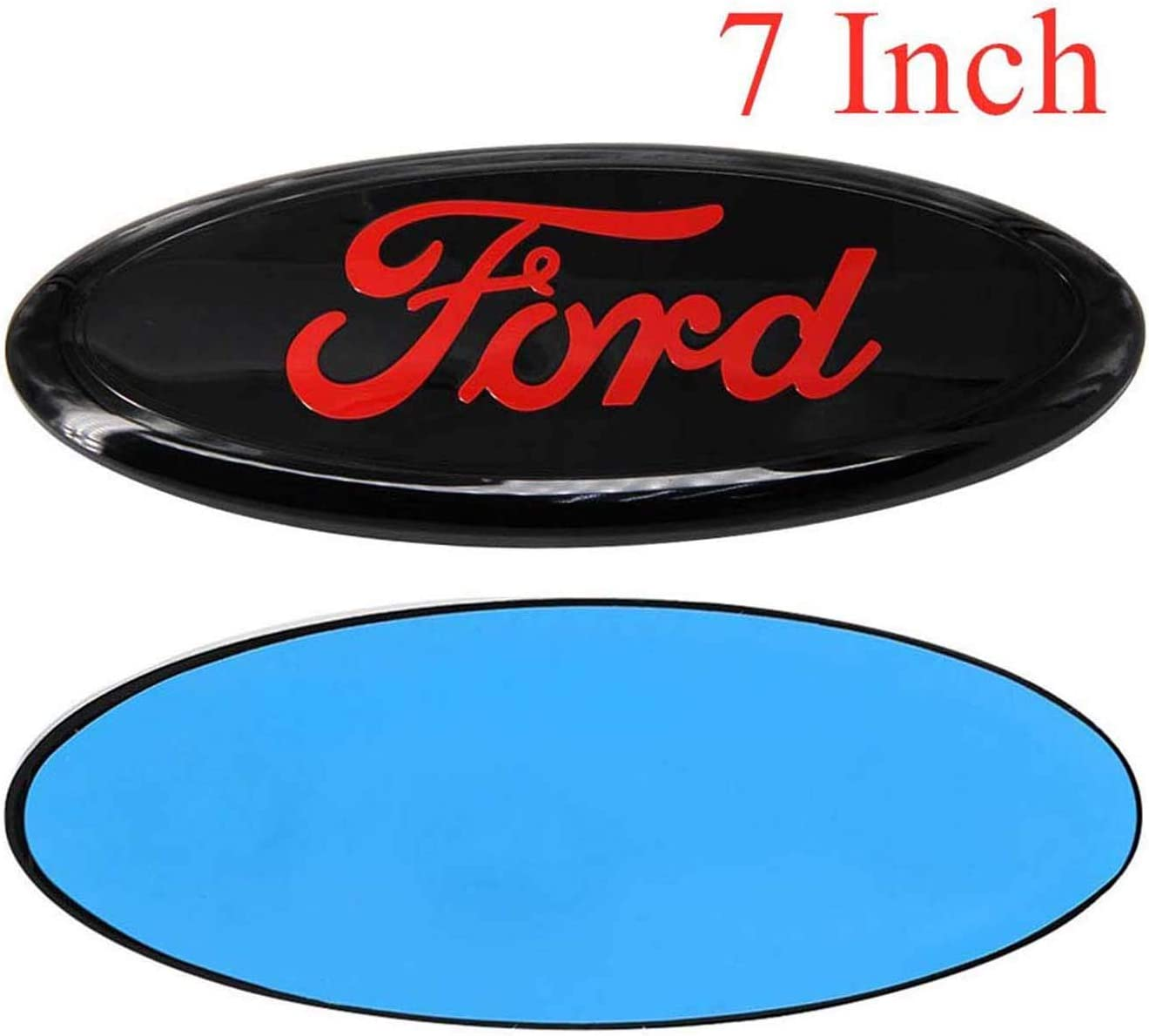 Shenwinfy 9 Inch Front Grille Rear Tailgate Emblem for 04-14 F150 11-14 Edge 11-16 Explorer 06-11 Ranger 07-14 Expedition Red Writing