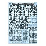 サンコーマーク工業 レプトジーダ プラモデル用 水転写 M02 45度 Numbers&Letters グレー 13.5×19.5cm WING DECAL SERIES WM-06