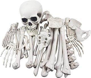 28 قطعه استخوان اسکلت و جمجمه برای دکوراسیون هالووین یا گورستان شبح وار دکوراسیون
