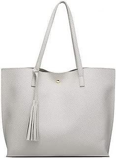 Women Shoulder Bag Soft Leather TopHandle Bags Ladies Tassel Tote Handbag
