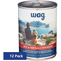 12 Pack Amazon Brand Wag Wet Dog Food 12.5/13.2 oz