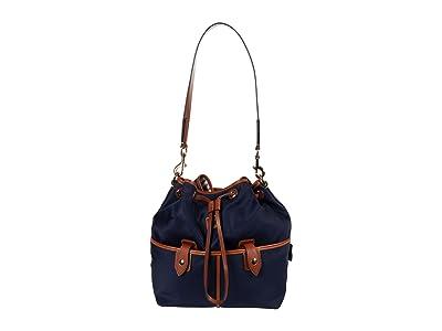 Dooney & Bourke Wayfarer Large Drawstring (Navy) Handbags