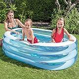 Schwimmbecken aufblasbar – Intex – Pool Oval Whale Fun - 2