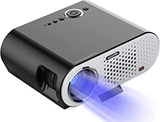 HD Mini Projector, LED Portable Projectors for Home Theater Video, Support 1080P with Audio AV HDMI SD Card Slot USB VGA, ...