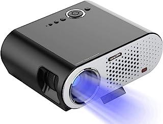بروجيكتور إتش دي  صغير ، جهاز  عرض ليد للعرض المنزلي مع وسائط متتعدة ومكبرة صوت 3 واط .