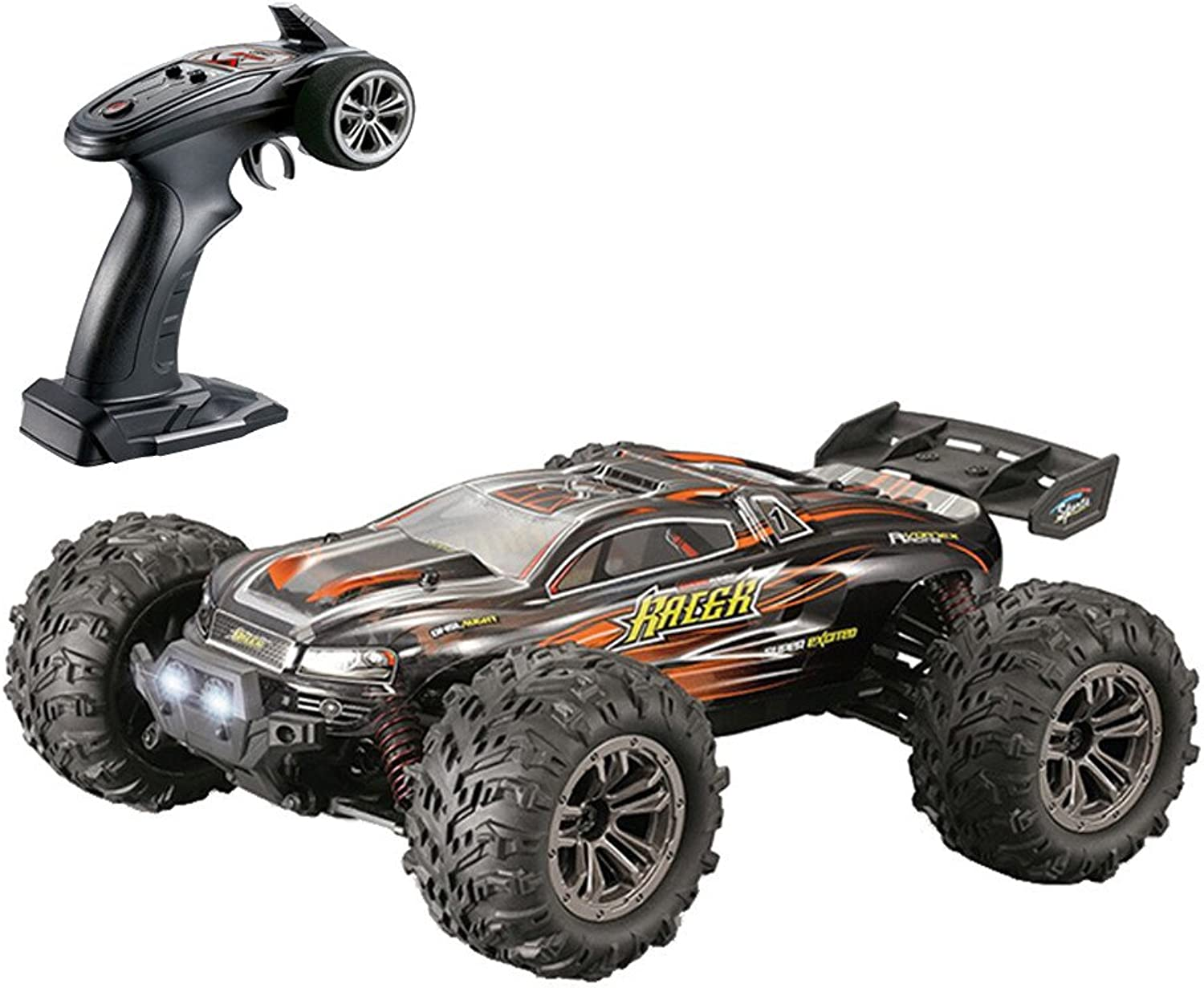 36+MPH 1 16 RC Car 2.4Ghz 4WD High Speed Remote Controlled IPX4 Waterproof Truck (yellow)