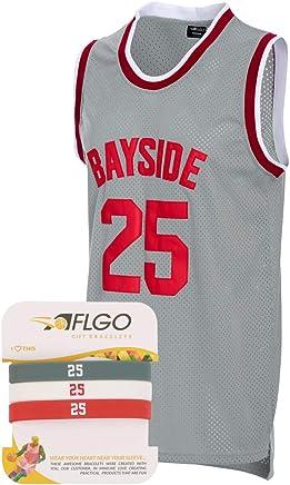 9478fbdb3479 AFLGO Zack Morris  25 Bayside Basketball Jersey S-XXXL Grey – 90 s Clothing  Throwback