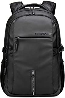 Classic Laptop Travel Bag, Large Professional Waterproof Backpack with USB Charging & Headset Port for Men and women, Black